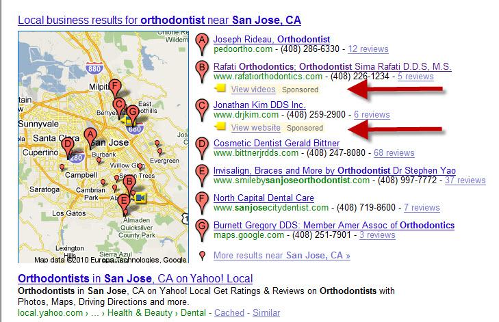 Google Maps Beta Test Enhancement Listings